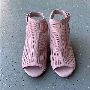 Unisa blush pink suede booties - NWOT
